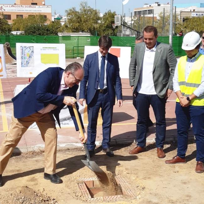 herysan2-Acto de colocación de la primera piedra del futuro Pabellón Cubierto de San Jerónimo