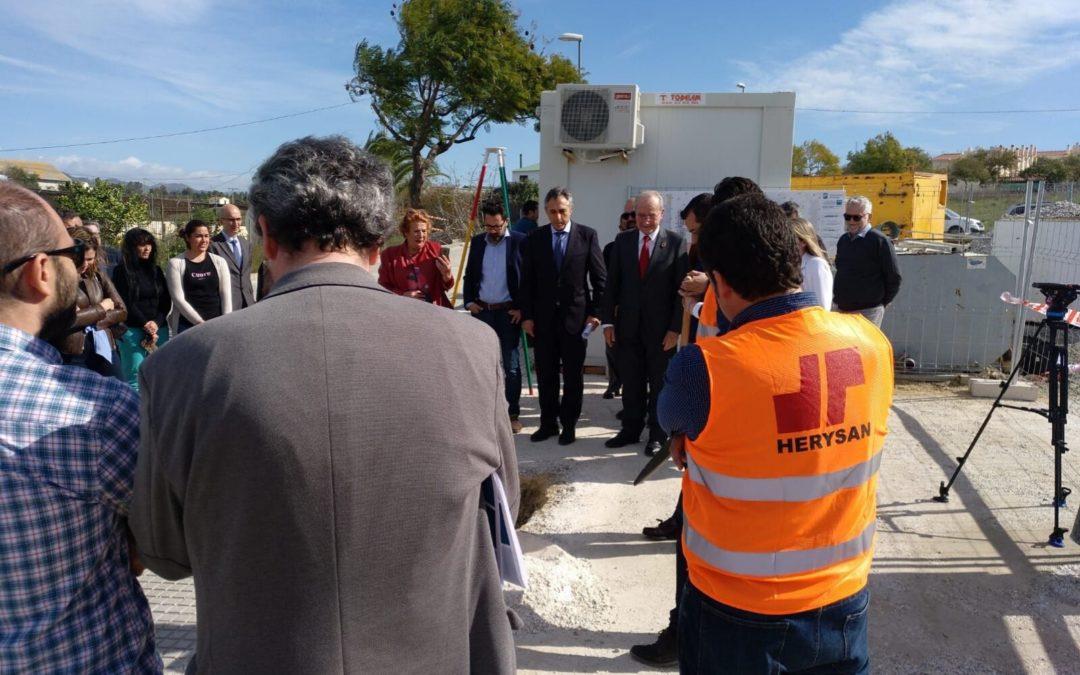 Herysan, junto con el Ayuntamiento de Málaga, realizó el acto de colocación de la primera piedra de la construcción de 24 VPO en Maqueda