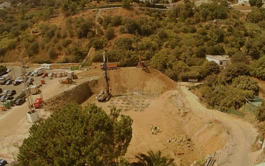Herysan presenta el time-lapse de la obra del edificio de usos múltiples en Ojén