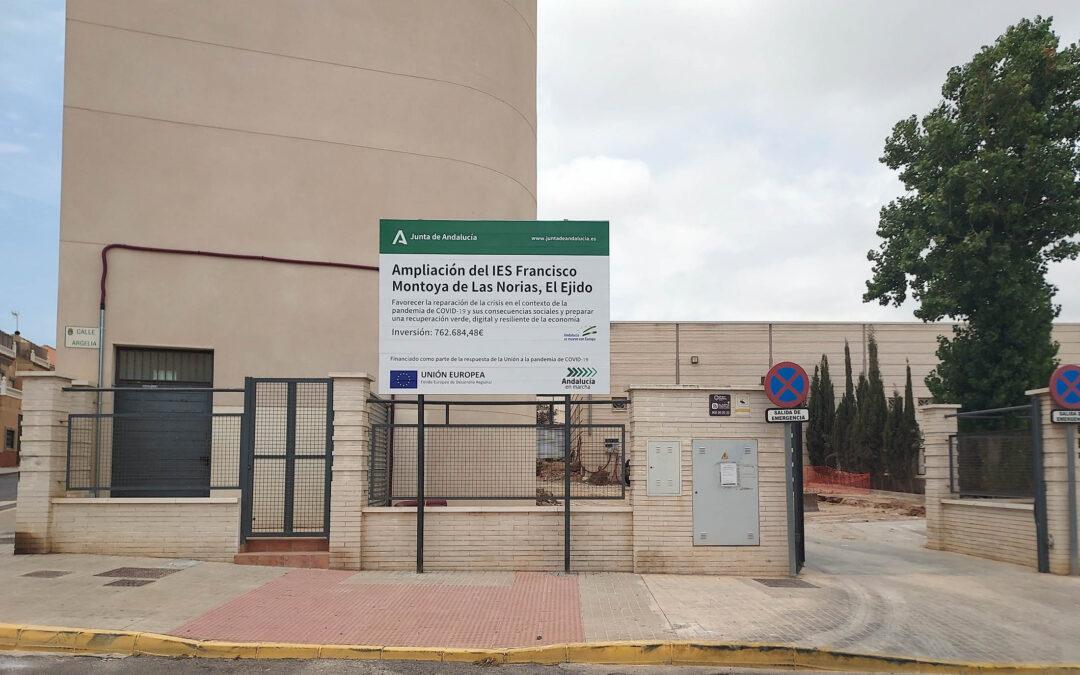 Herysan inicia la obra de ampliación del colegio IES Francisco Montoya en El Ejido, Almería