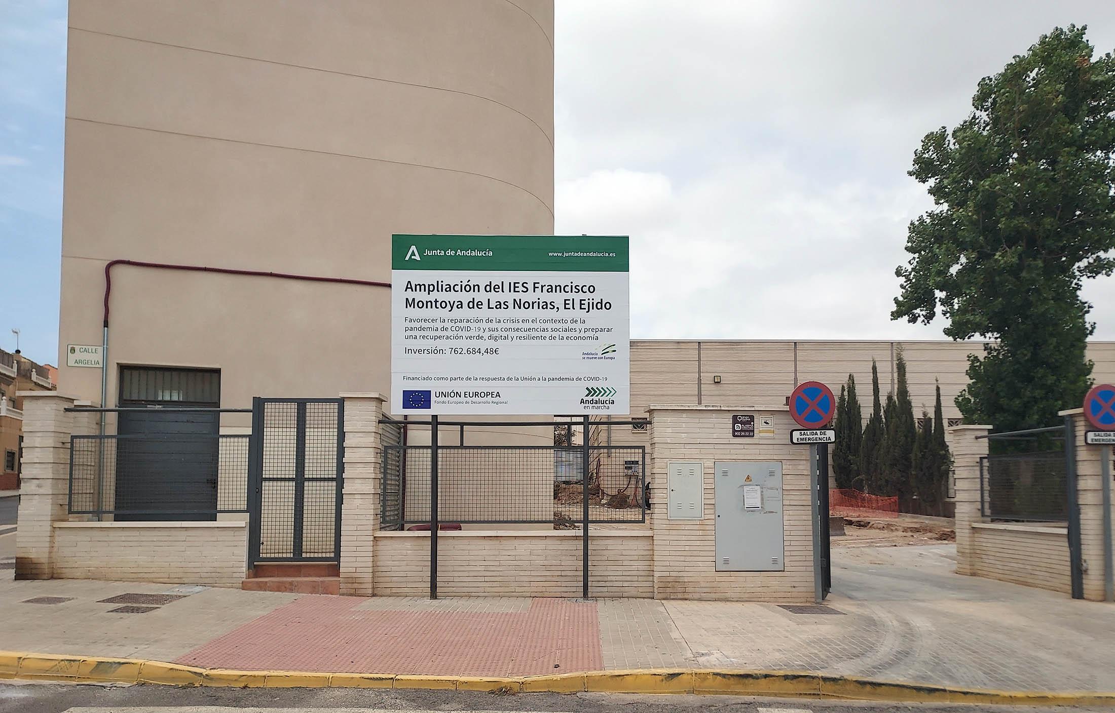ampliación del colegio IES Francisco Montoya en El Ejido-herysan